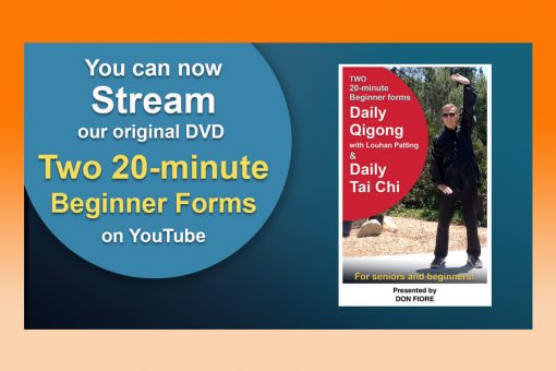 """Stream on YouTube our Original VD """"2 20-minute beginner form Tai Chi and Qigong"""""""