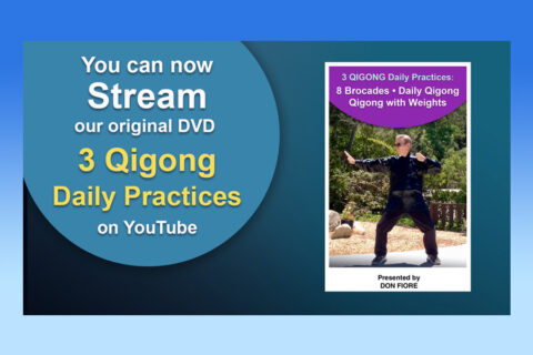 """Stream on YouTube our Original VD """"3 Daily Qigong Practices"""