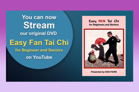"Stream on YouTube our Original VD ""Easy Fan Tai Chi"""