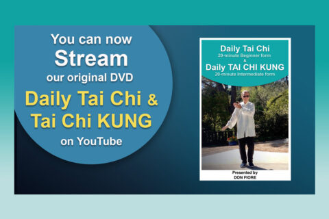 """Stream on YouTube our Original VD """"Daily Tai Chi and Tai Chi KUNG"""""""